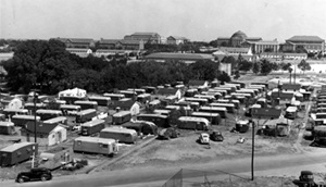 Trailerville at SMU in the late 1940s