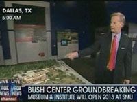 Coverage of the groundbreaking for the George W. Bush Presidential Center