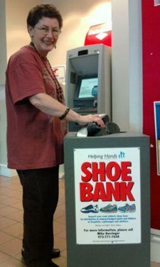 shoe bank donation barrell