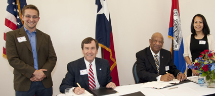 SMU-DCCCD agreement signing