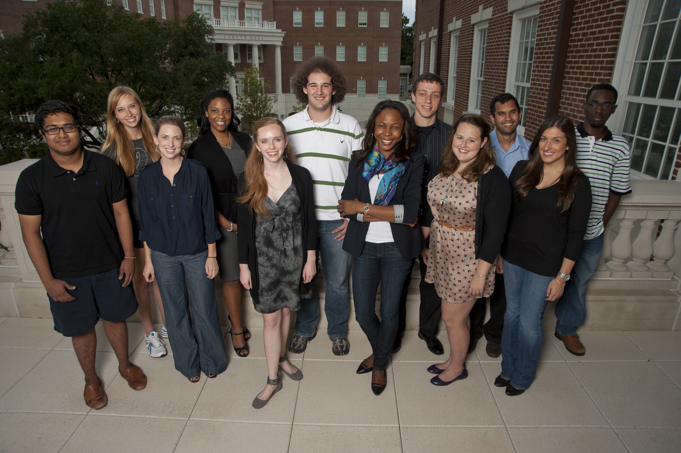 Carole & Jim Young Fellows are, from left to right, SMU students Rahfin Faruk, Julie Kangas, Andress Boggs, Alicia Booker, Moria Momsen, Brandon Lazarus, Harriet Atsegbua, Roman Stolyarov, Katelyn Hall, Krishanu Sengupta, Andrea Netti and Bre'Shard Busby. Not pictured is Seth Dennis.