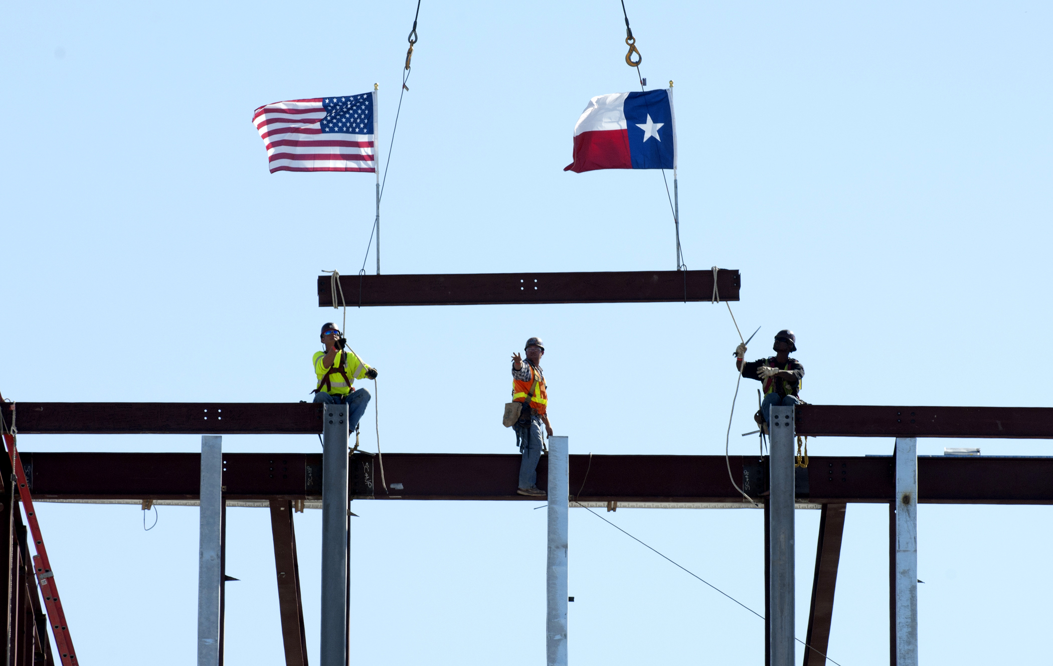 Bush Presidential Center topping out ceremony - photo by Hillsman S. Jackson