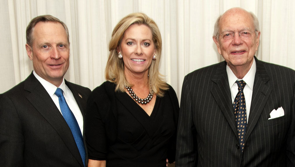 Ross and Sarah Perot with James M. Fullinwider at a reception on May 4, 2011.