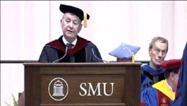 Dean William B Lawrence at the 2011 SMU Commencement on 14 May 2011