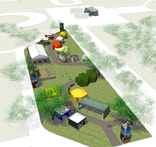 Rendering of the 'Living Village' at SMU for Engineering and Humanity Week