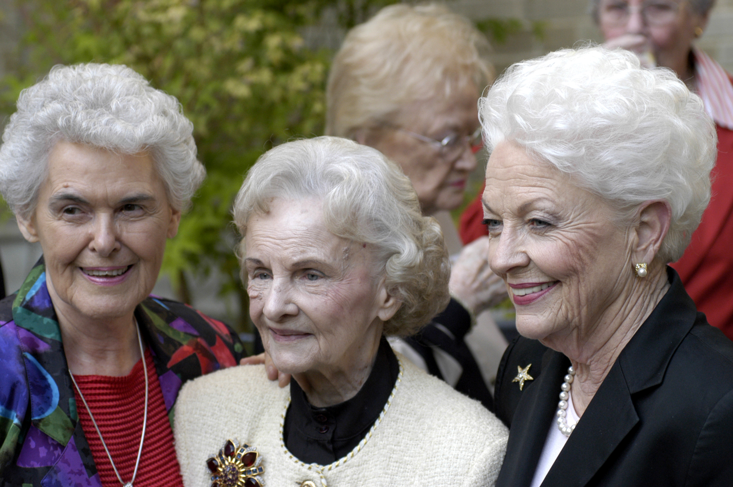 Louise Raggio with Vivian Castleberry and Texas Governor Ann Richards in 2003 at SMU