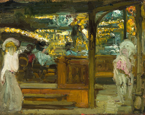 Moulin Rouge, Exit to the Box Seats (Moulin Rouge, salida a los palcos), c. 1902, by Hermenegildo Anglada-Camarasa (1871-1959)
