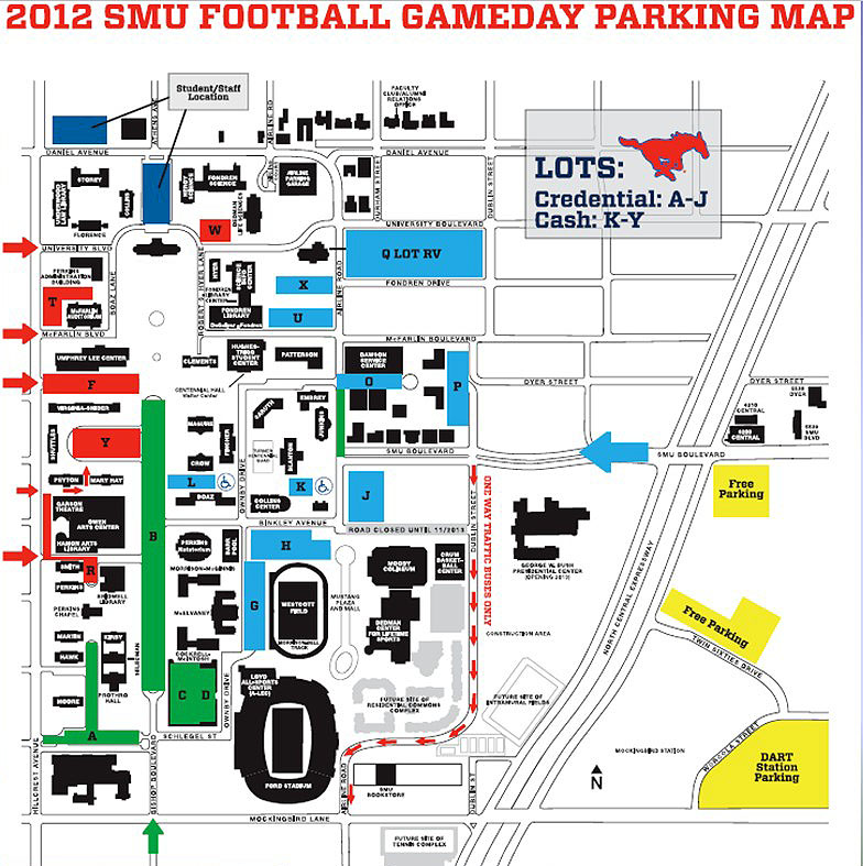 Game Day 2012 Parking Map
