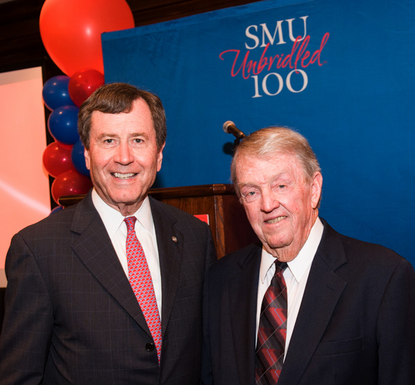 SMU President R. Gerald Turner and Houston business leader W. Yandell 'Tog' Rogers Jr