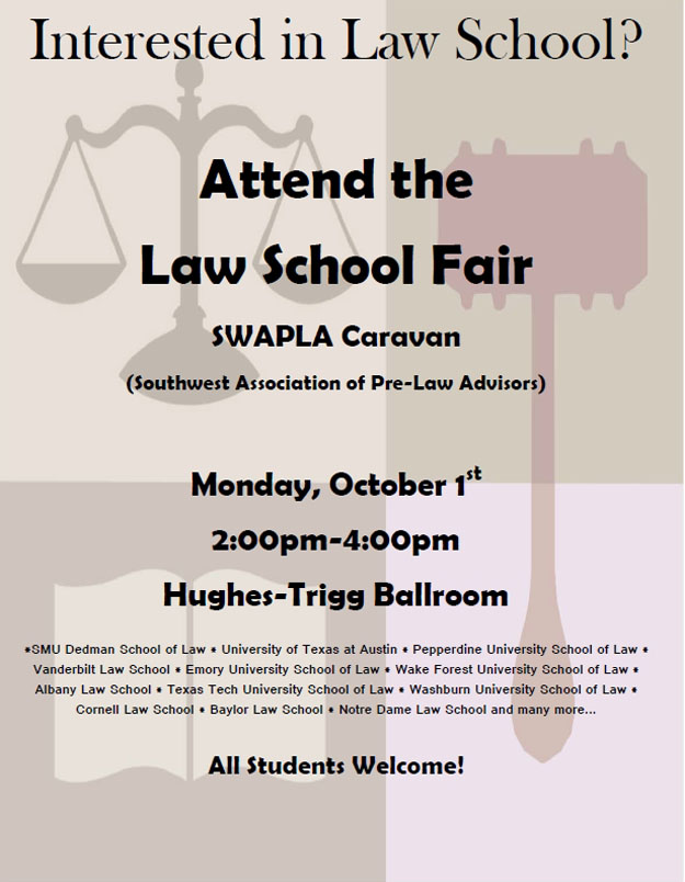Law School Fair on 01 Oct 2012