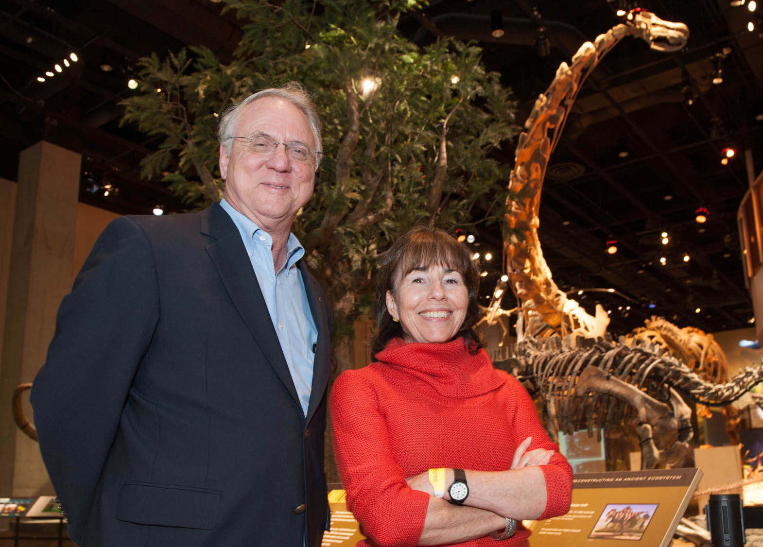 Louis Jacobs and Bonnie Jacobs at the Perot Museum