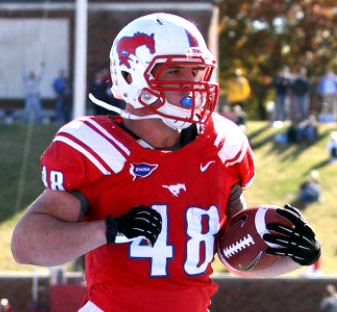 SMU running back Zach Line