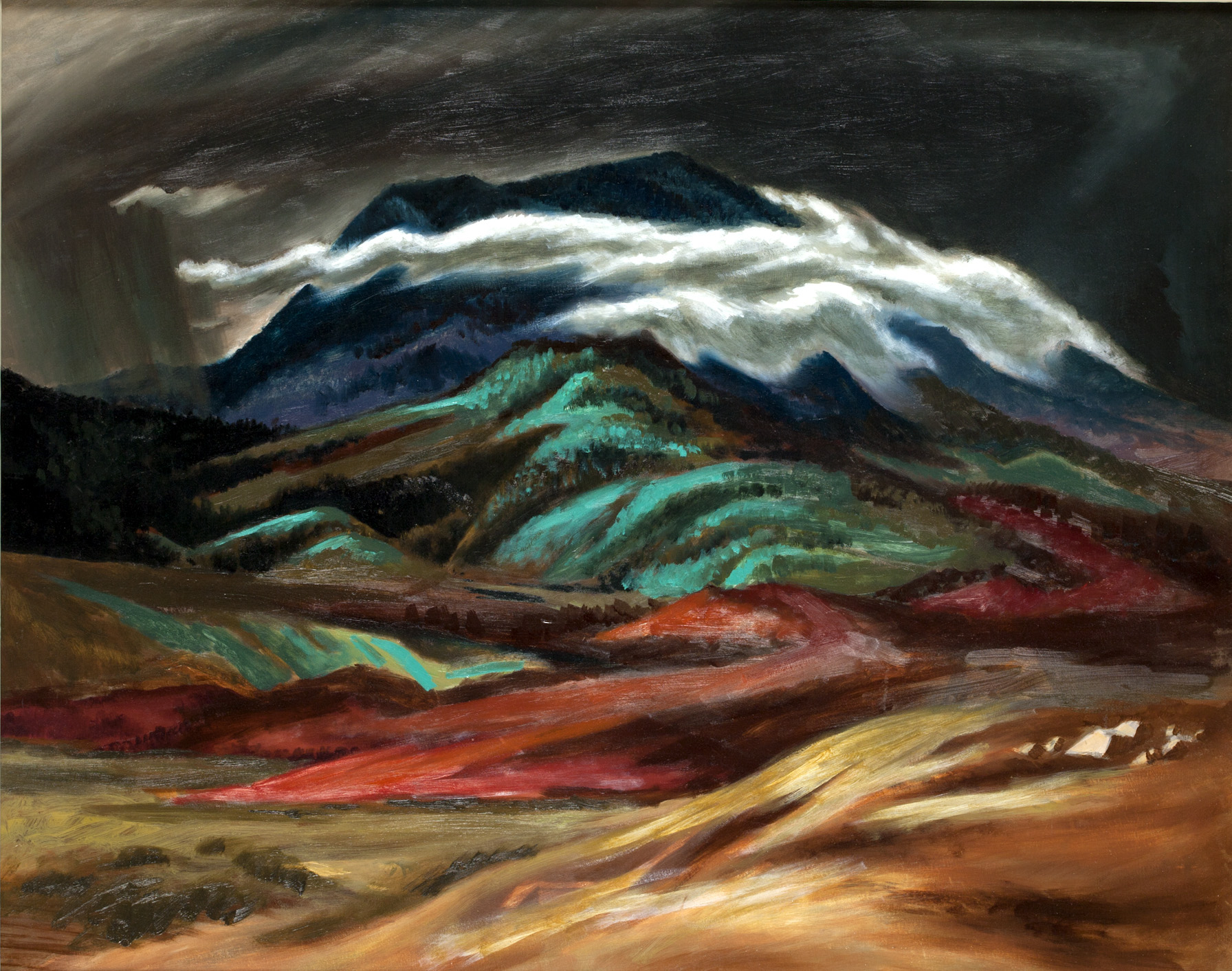 Taos Mouintains by Jerry Bywaters