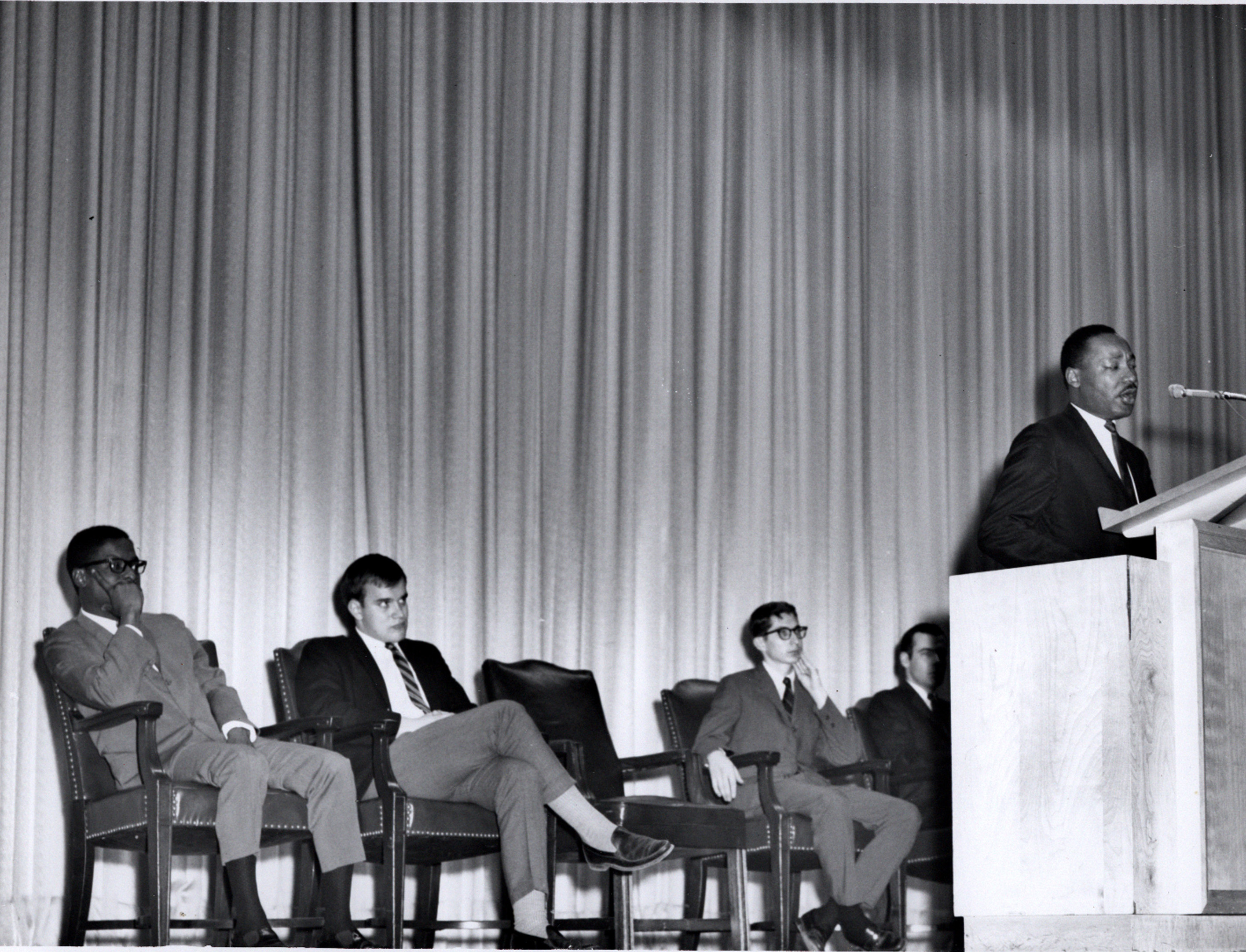 Martin Luther King Jr. at SMU on 17 March 1966