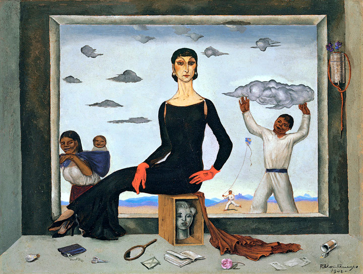 Roberto Montenegro. The First Lady, 1942. Oil on cardboard. 10-­‐3/4 x 14-1/8 in. Collection of Andrés Blaisten. Reproduced with the kind permission of Fundación Andrés Blaisten.