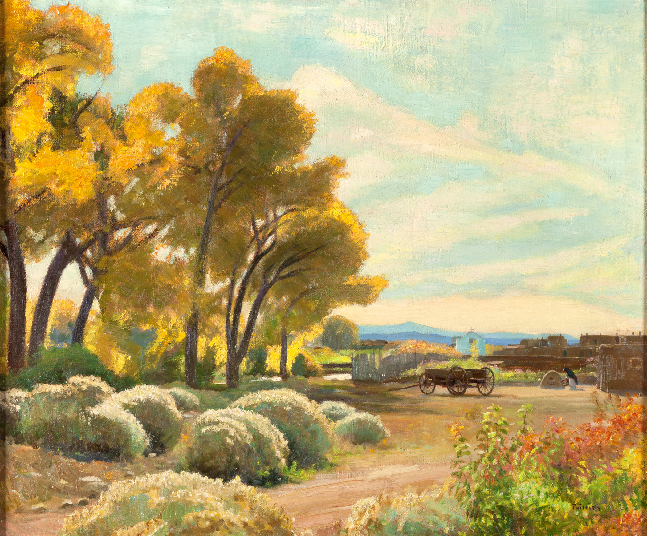 Cottonwoods by  Bert Geer Phillips