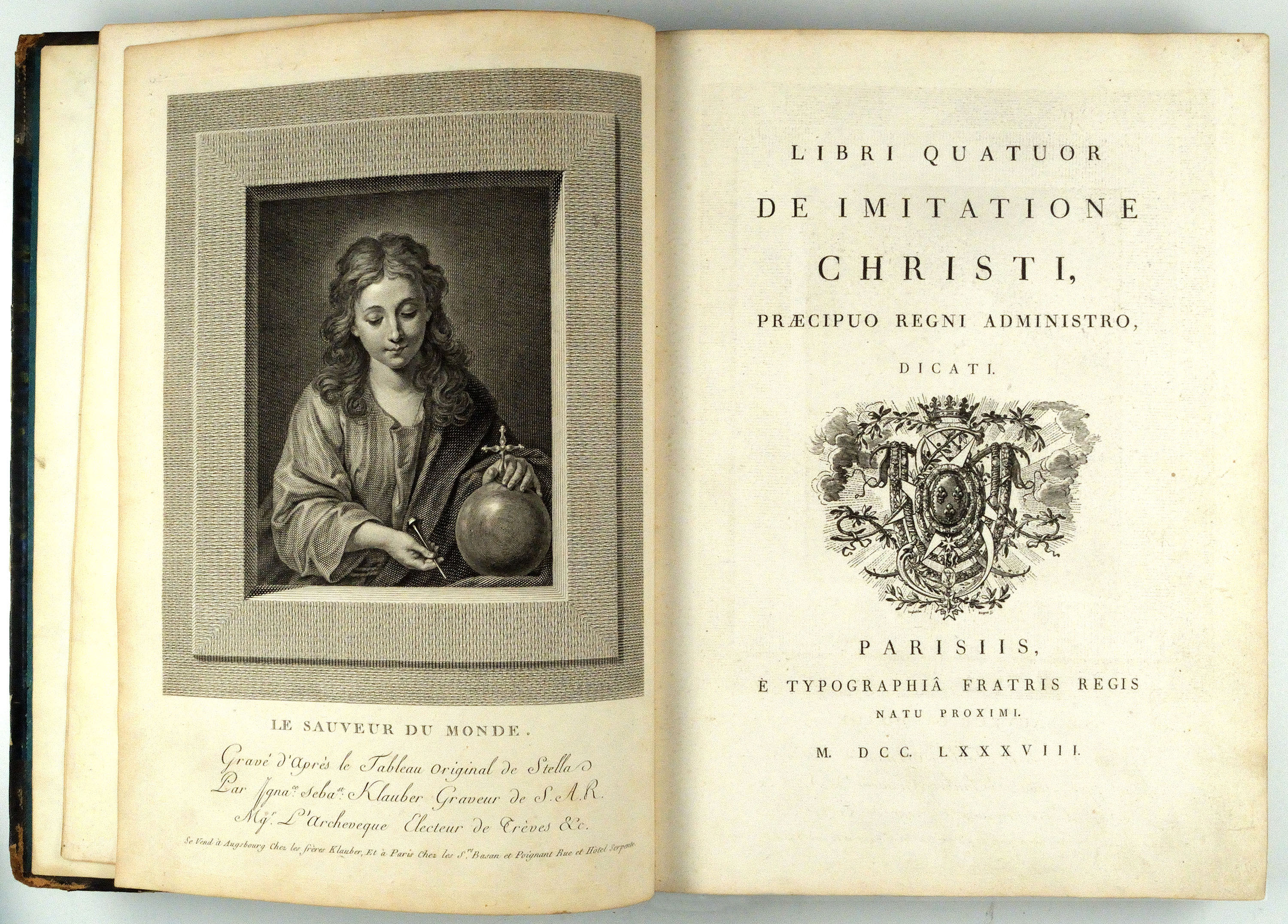 Bridwell Library's 1788 edition of Thomas à Kempis' Libri quatuor De imitatione Christi (The Imitation of Christ)
