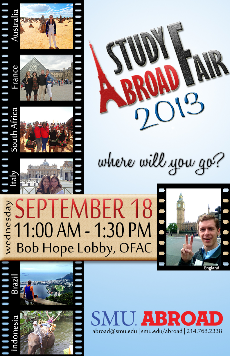 SMU Study Abroad poster for fall 2013