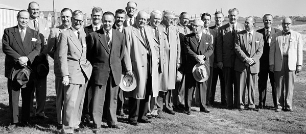 Moody Coliseum groundbreaking 1954