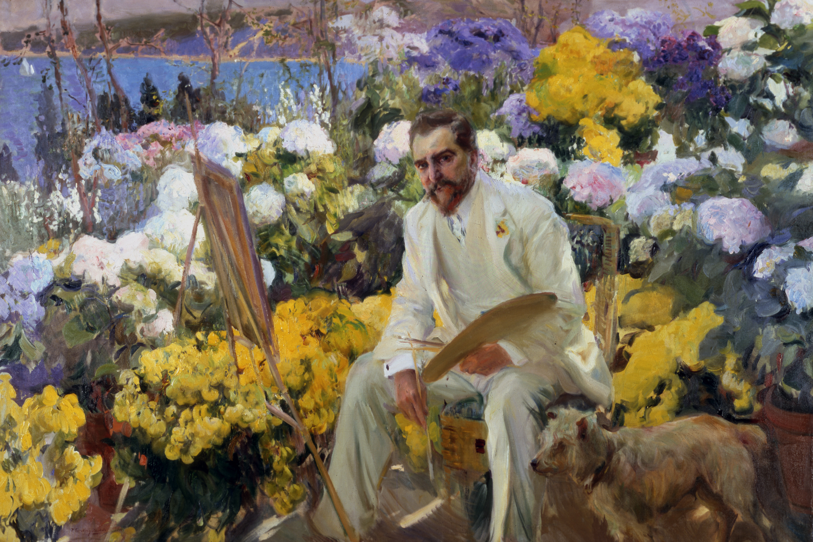 Louis Comfort Tiffany - Joaquín Sorolla y Bastida (Spanish, 1863-1923), Portrait of Louis Comfort Tiffany, 1911, oil on canvas. The Hispanic Society of America, A3182