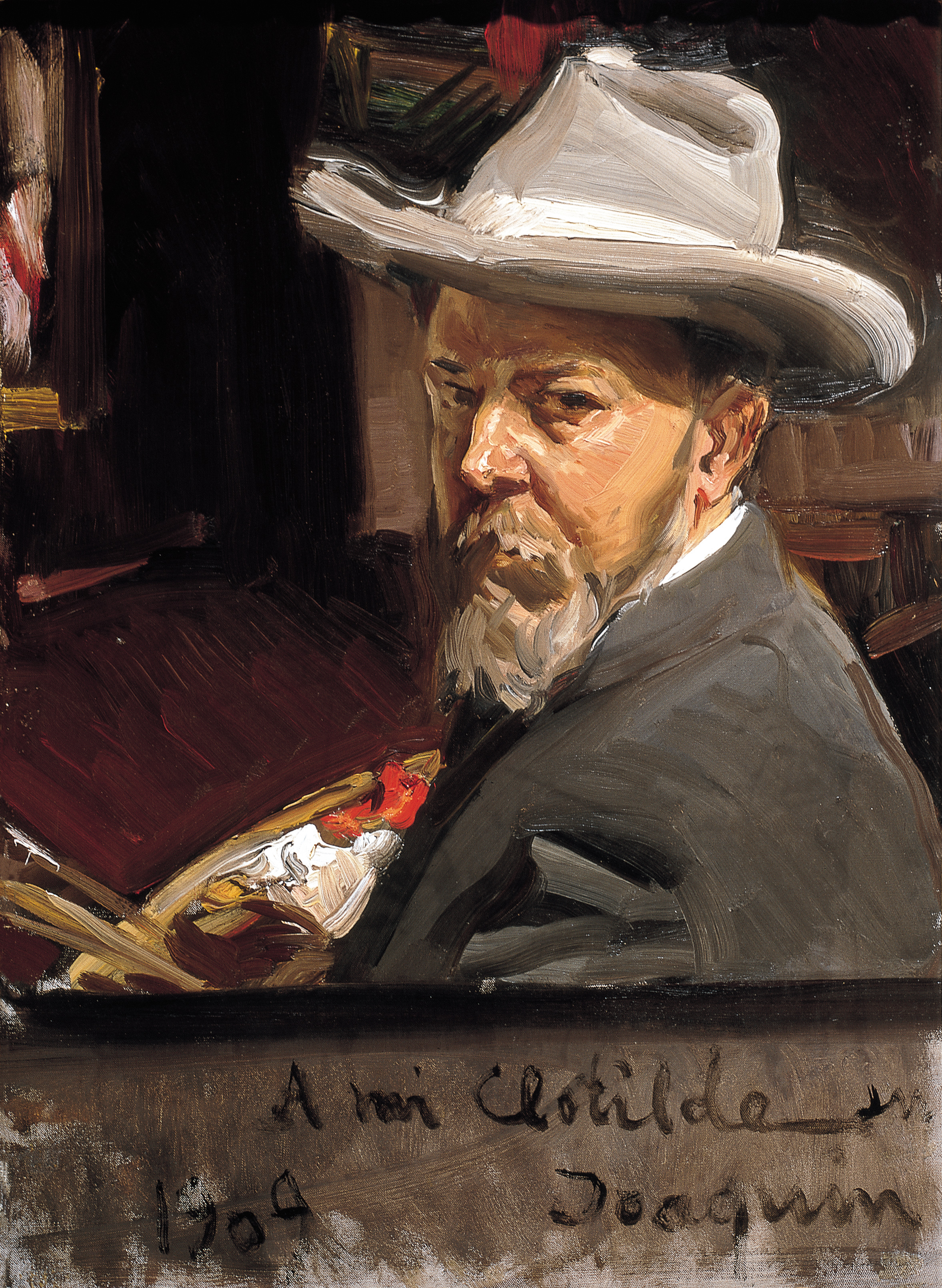 Self-Portrait - Joaquín Sorolla y Bastida (Spanish, 1863-1923), Self-Portrait, 1909, oil on canvas.