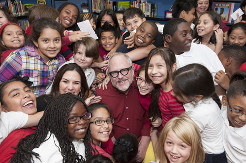 Author William Joyce at Sidney Lanier Elementary School in Dallas Texas
