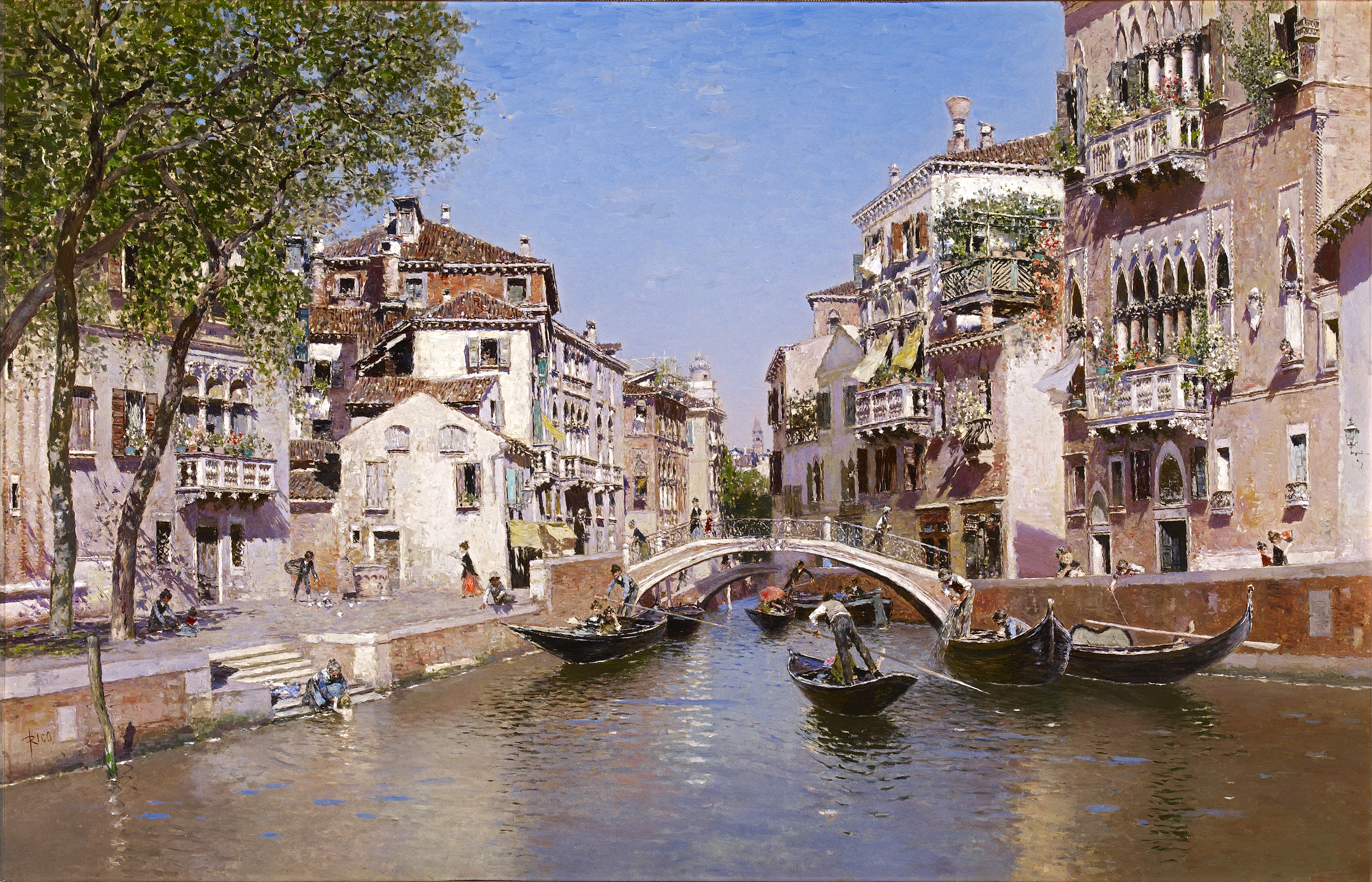 Martín Rico y Ortega (Spanish, 1833-1908), Rio San Trovaso, Venice, c. 1903. Oil on canvas. Meadows Museum, SMU, Dallas. Museum purchase with funds from The Meadows Foundation, MM.07.01. Photo by Michael Bodycomb.
