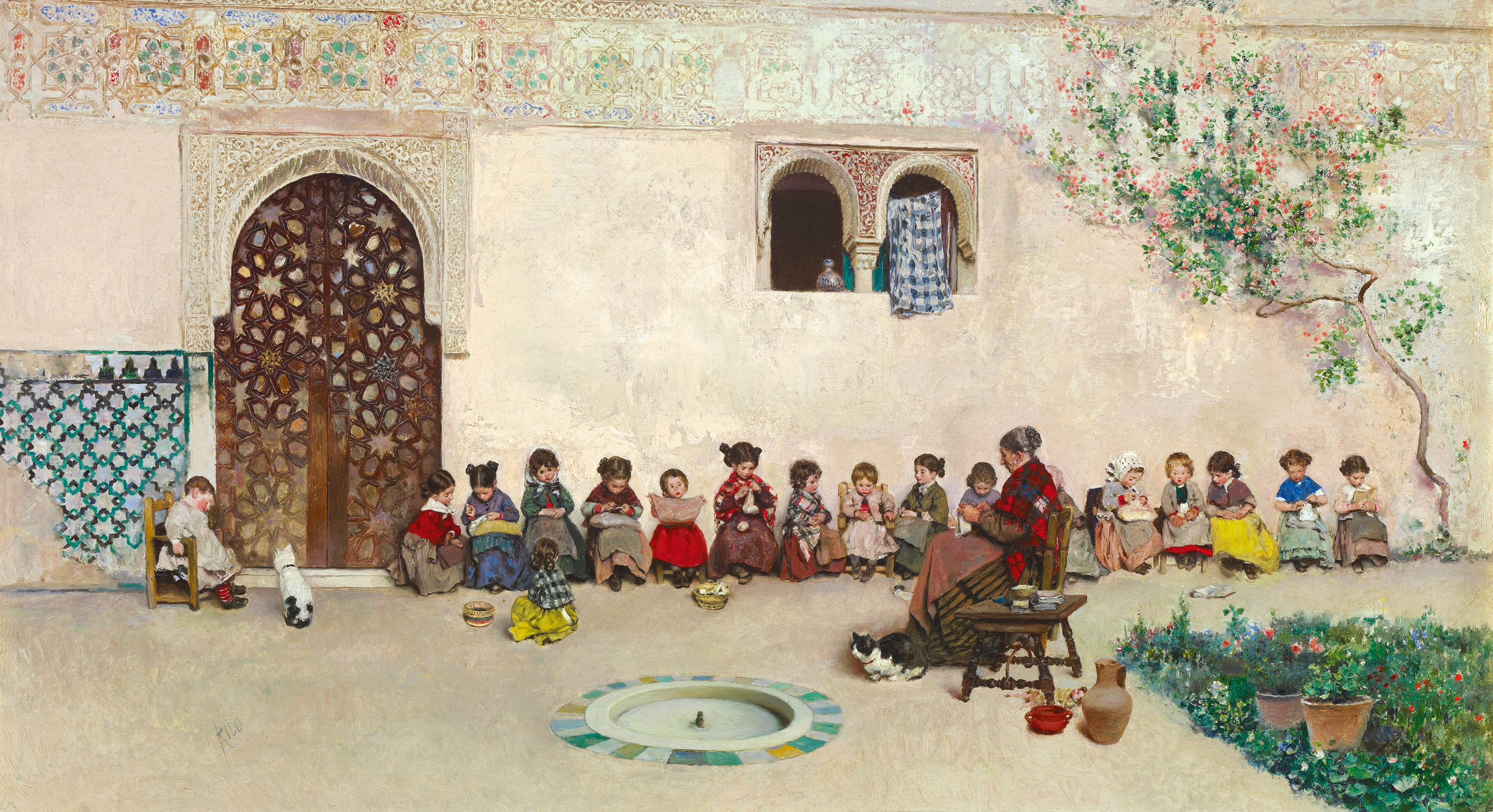 Martín Rico y Ortega (Spanish, 1833-1908), The School Patio, 1871. Oil on canvas. Private collection, Madrid