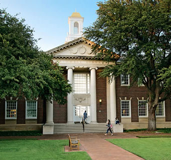 Bridwell Library entrance