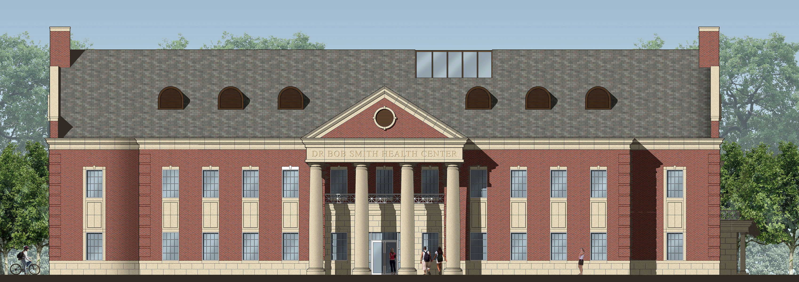 Rendering of the Dr. Bob Smith Health Center at SMU