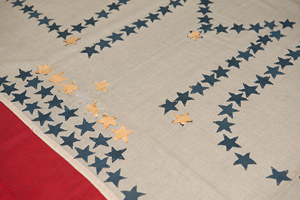 Gold stars for 11 students killed during the first World War on SMU's 1917 service flag