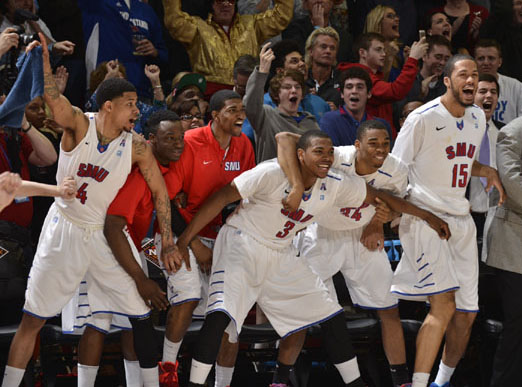 Courtside at SMU vs Cal on March 26