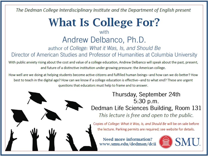 Andrew Delbanco lecture on 24 Sept 2015
