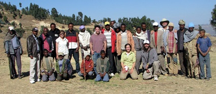 Bonnie Jacobs' expedition gathers for a group picture near its Mush Valley campsite in 2011. Jacobs is fifth from the left in the second row.