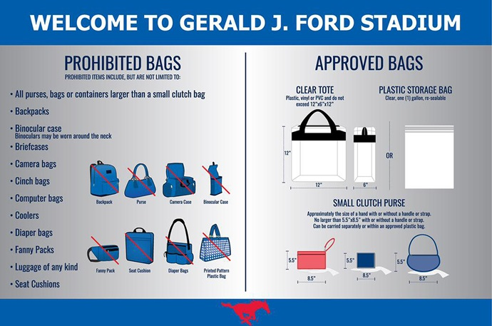 Ford Stadium Clear Bag Chart