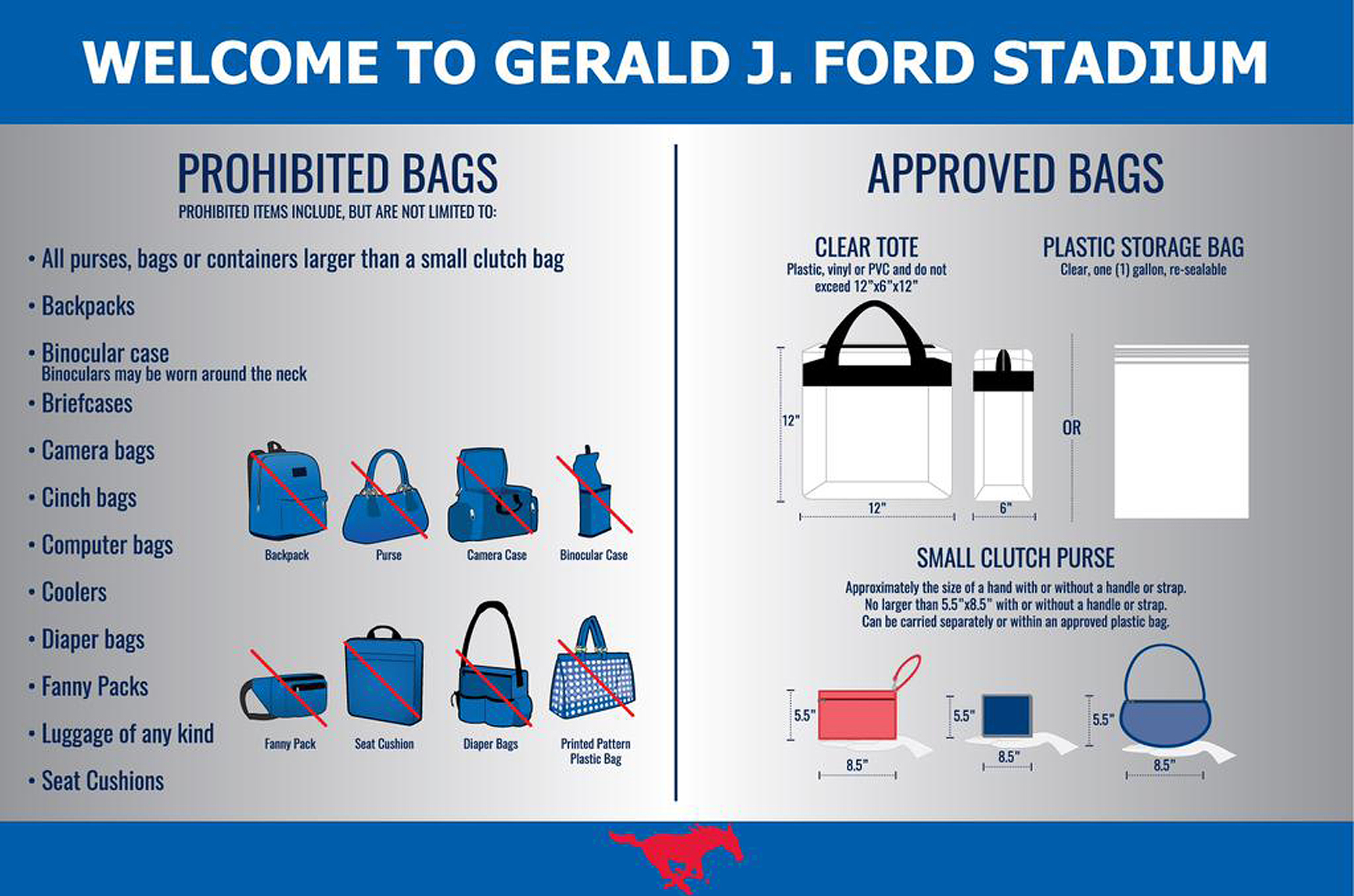 Ford Stadium Clear Bag Chart Smu Making Important Change To Items Roved For Carrying Into