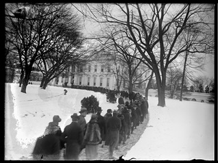 1925 White House New Year's Day reception from U.S. Library of Congress Prints and Photographs Collection