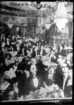 New Year's Eve celebration in early 1900s from U.S. Library of Congress Prints and Photographs Collection