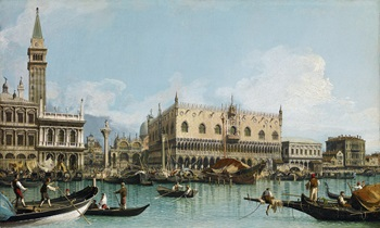 "Giovanni Antonio Canal, called ""Canaletto"" (Italian, 1697-1768), The Pier of Venice Next to St. Mark's Square, c. 1729. Oil on canvas. P678 – 11/2002, Archive Abelló Collection (Joaquín Cortés)"