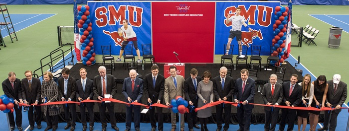 Ribbon-cutting for SMU tennis complex