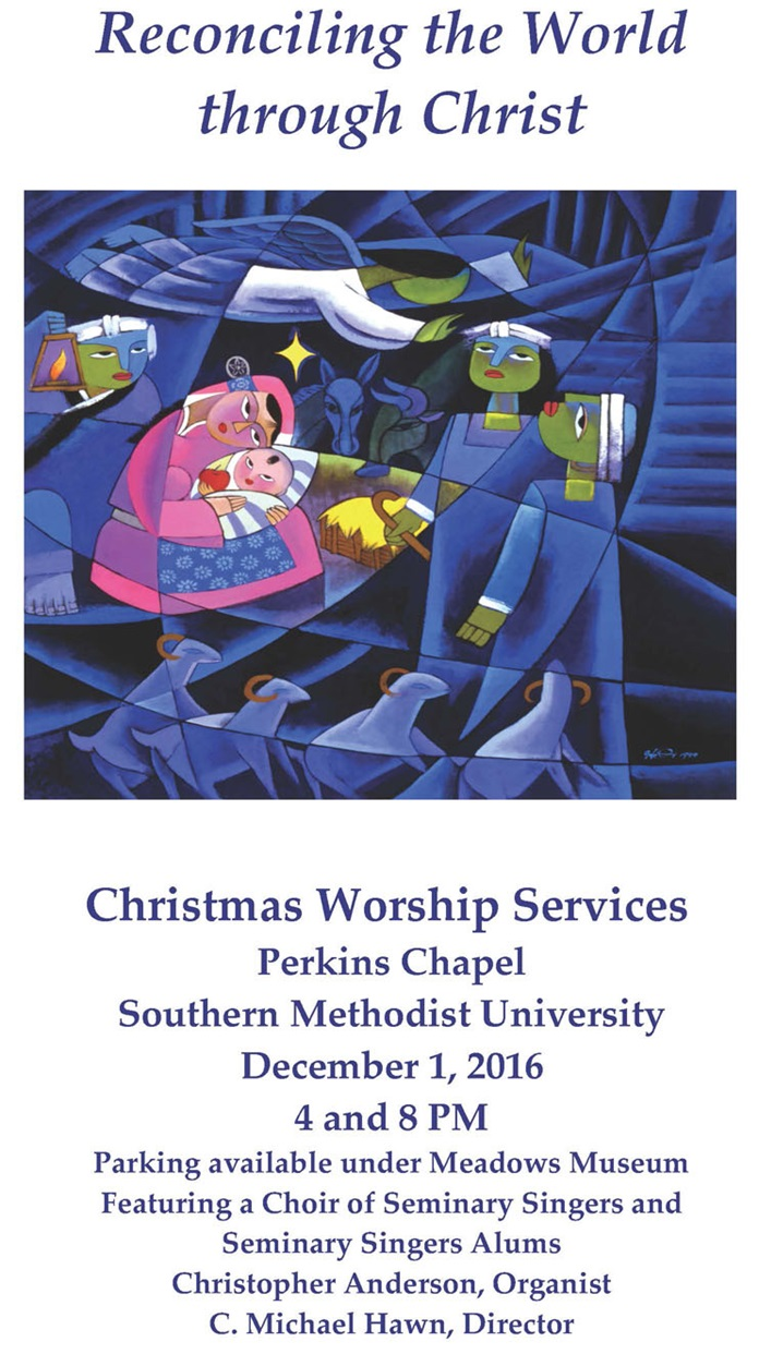 Christmas services flier