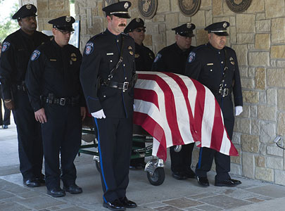 Military funeral for SMU Police Officer Mark McCullers