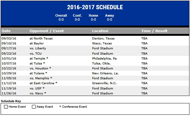 Smu Announces 2016 Football Schedule Smu