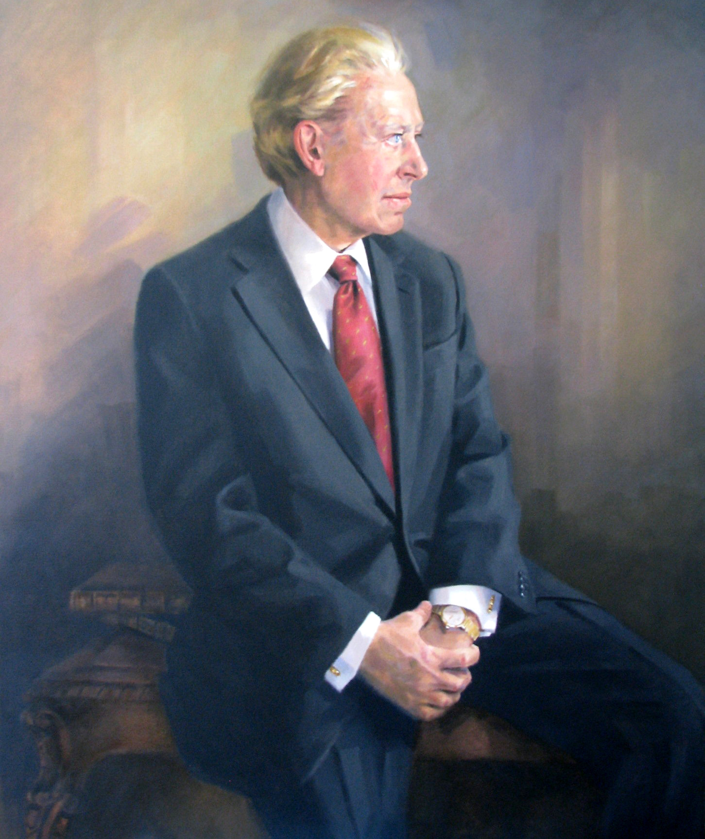 Harold Clark Simmons portrait by Nancy Fleming Harris.