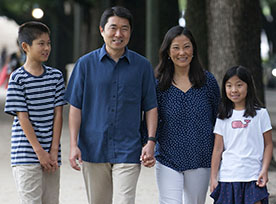 David Son, his wife Heidi Son, Kaylee Son and Geoffrey Son