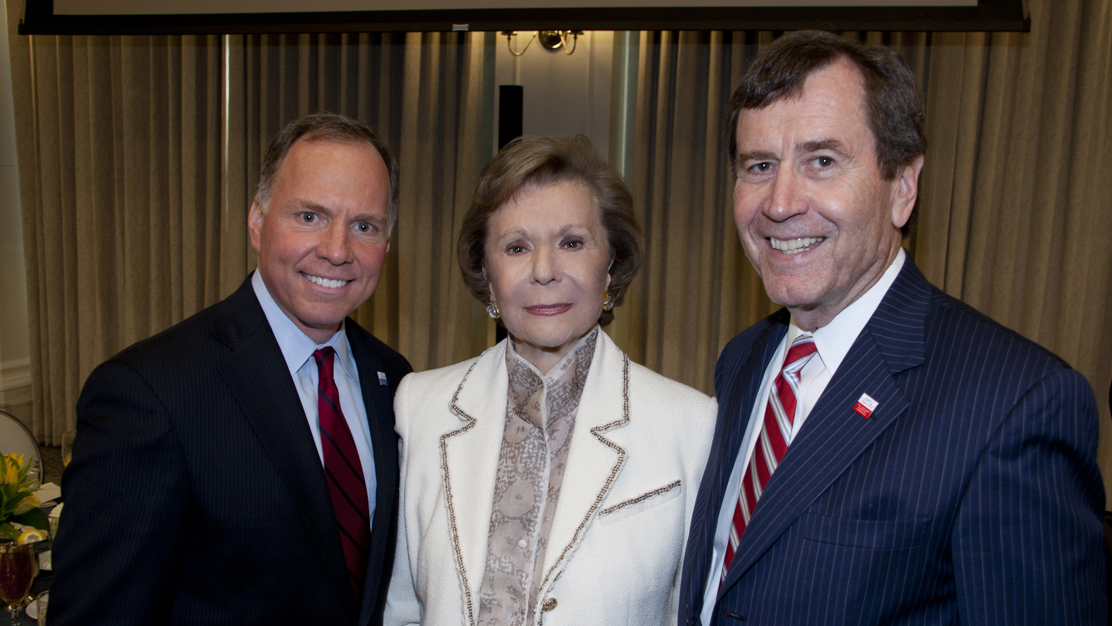 Left to Right: Brad E. Cheves, Ruth Altshuler, R. Gerald Turner