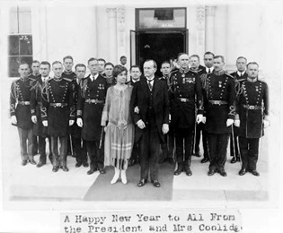President and Mrs. Coolidge at the White House in 1927