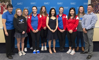 SMU Women's Golf Team meets Angela Duckworth