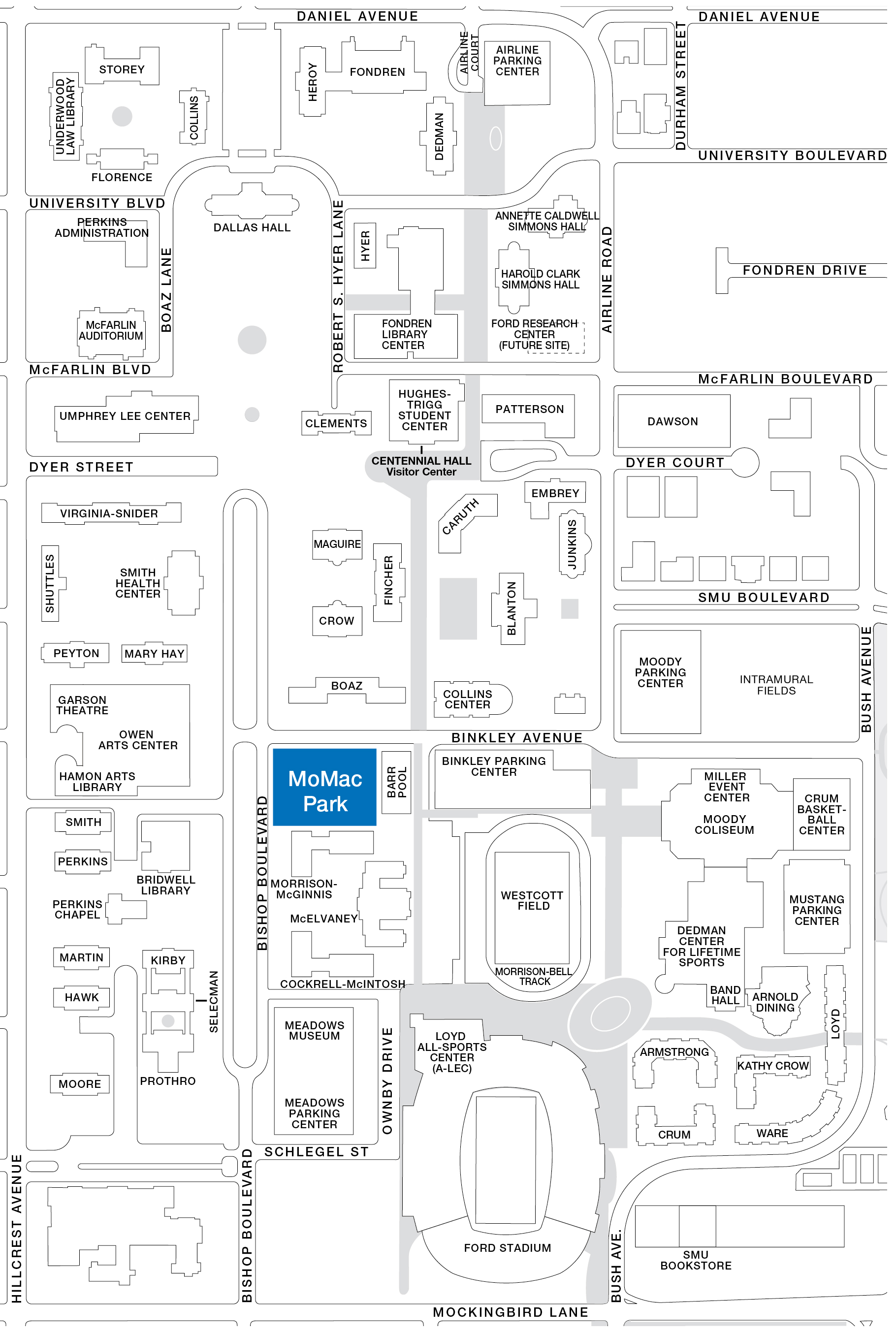 Campus map for lawn displays