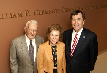 Rita and Bill Clements with SMU Pres. R. Gerald Turner